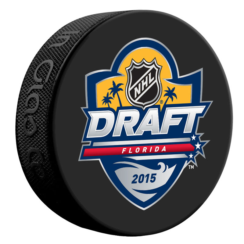 2015 NHL Draft Florida Unsigned Puck