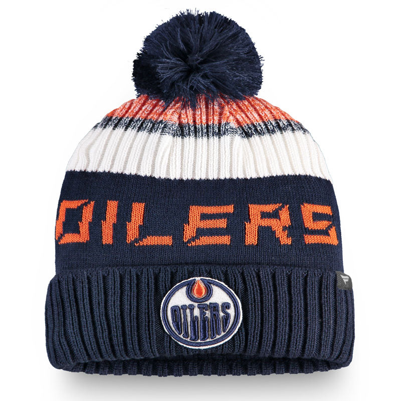 Edmonton Oilers Authentic Pro Rinkside Goalie Beanie w/ Pom