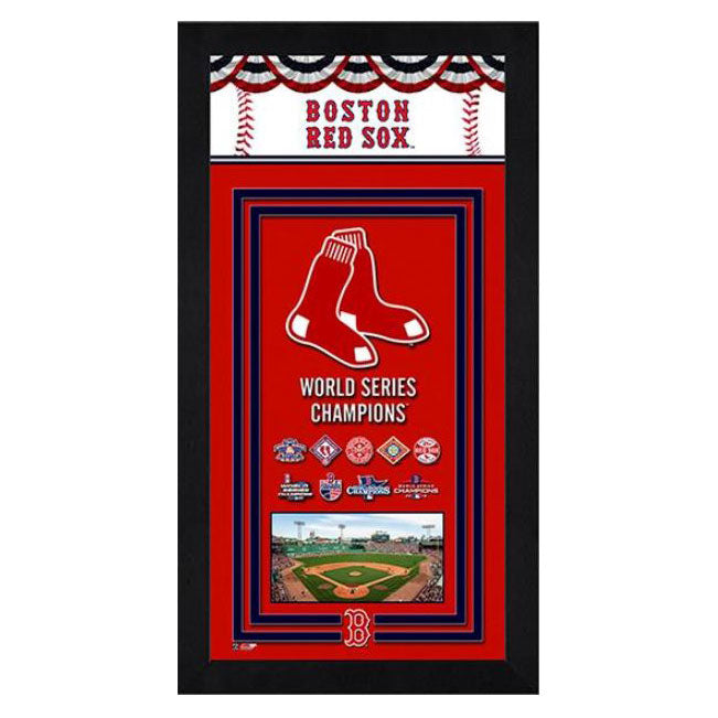 Boston Red Sox World Series Champions Banner Mini Frame