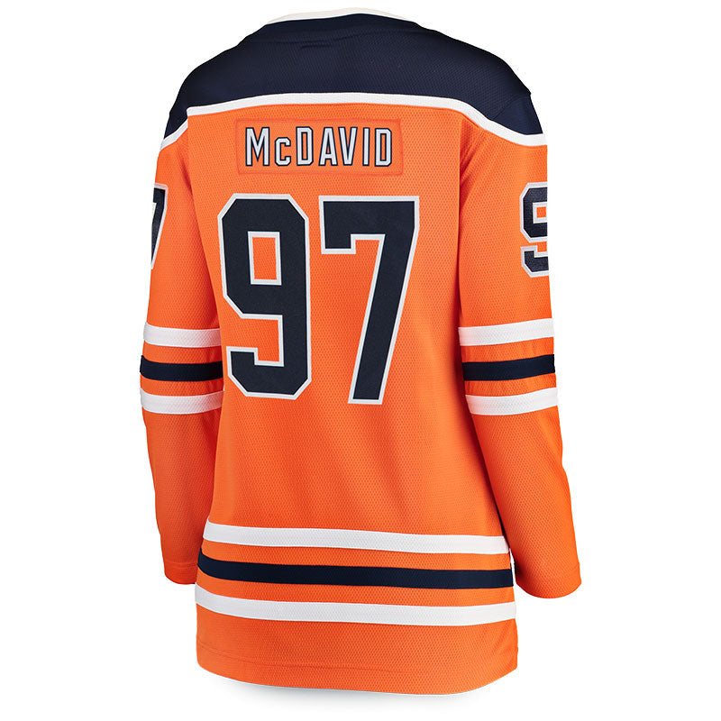best sneakers 5ebcc cfd46 Connor McDavid Women's Edmonton Oilers Breakaway Replica Home Jersey