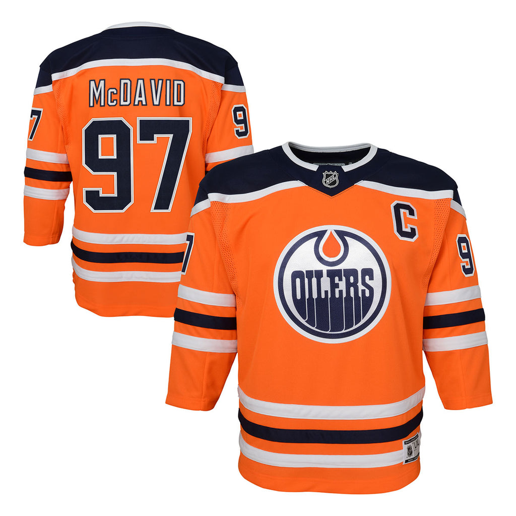 new styles 3e42b 4bd4f Connor McDavid Edmonton Oilers Child Home Replica Jersey