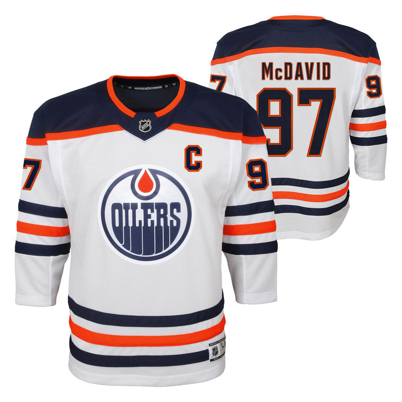 Connor McDavid Edmonton Oilers Youth Road Replica Jersey
