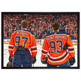 Connor McDavid / Ryan Nugent-Hopkins Edmonton Oilers 20x29 Canvas Frame