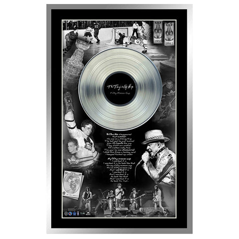 The Tragically Hip Framed Black & White Photo/Platinum LP
