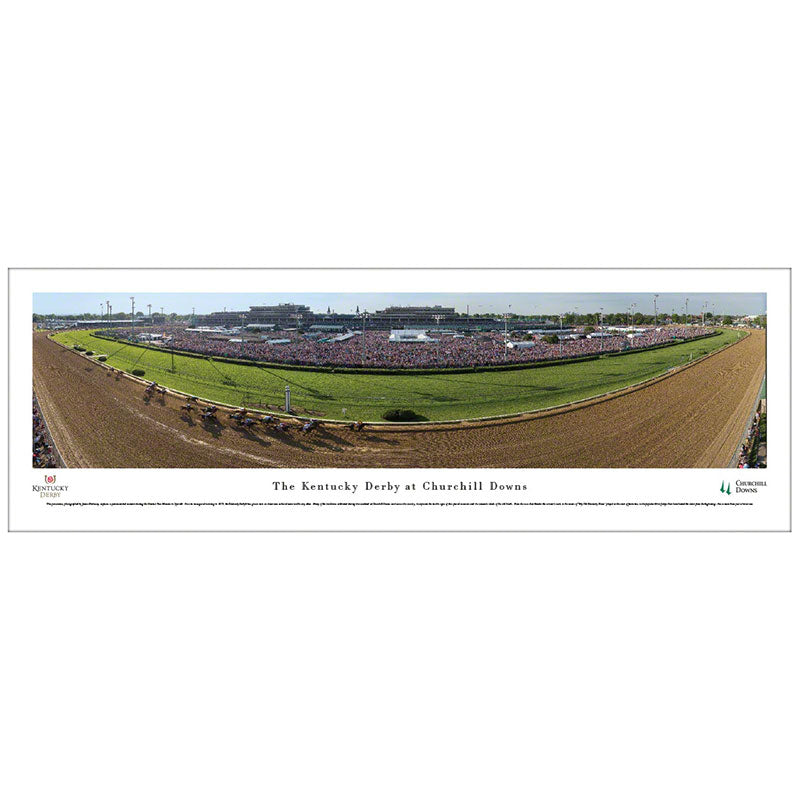 Kentucky Derby at Churchill Downs Panoramic Print