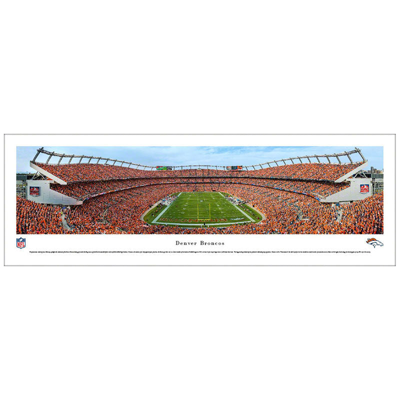 Denver Broncos Sports Authority Field Panoramic Print