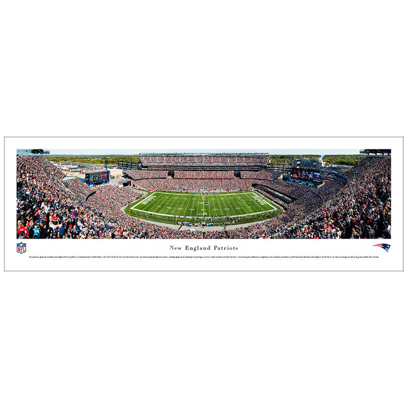 New England Patriots Gillette Stadium Panoramic Print