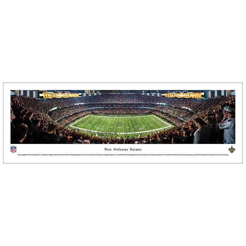 New Orleans Saints Mercedes-Benz Superdome Panoramic Print
