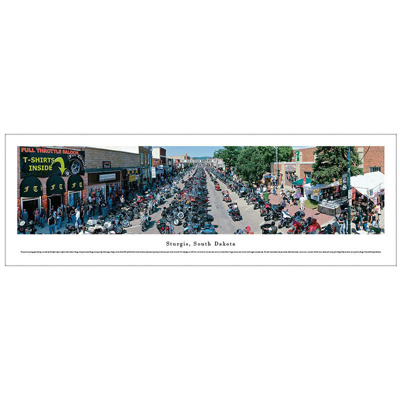 Sturgis, South Dakota Motorcycle Rally Panoramic Print