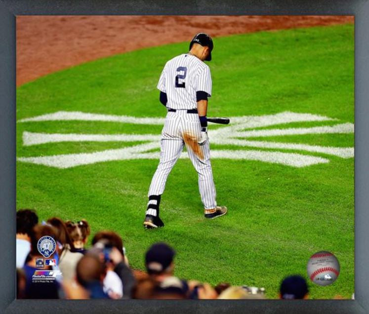 Derek Jeter New York Yankees 16x20 Canvas Frame