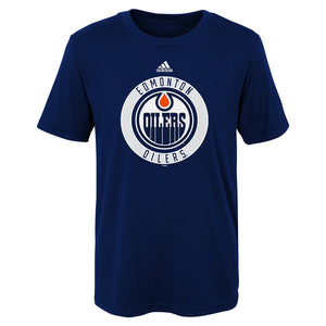 Edmonton Oilers adidas Youth Practice Graphic Tee