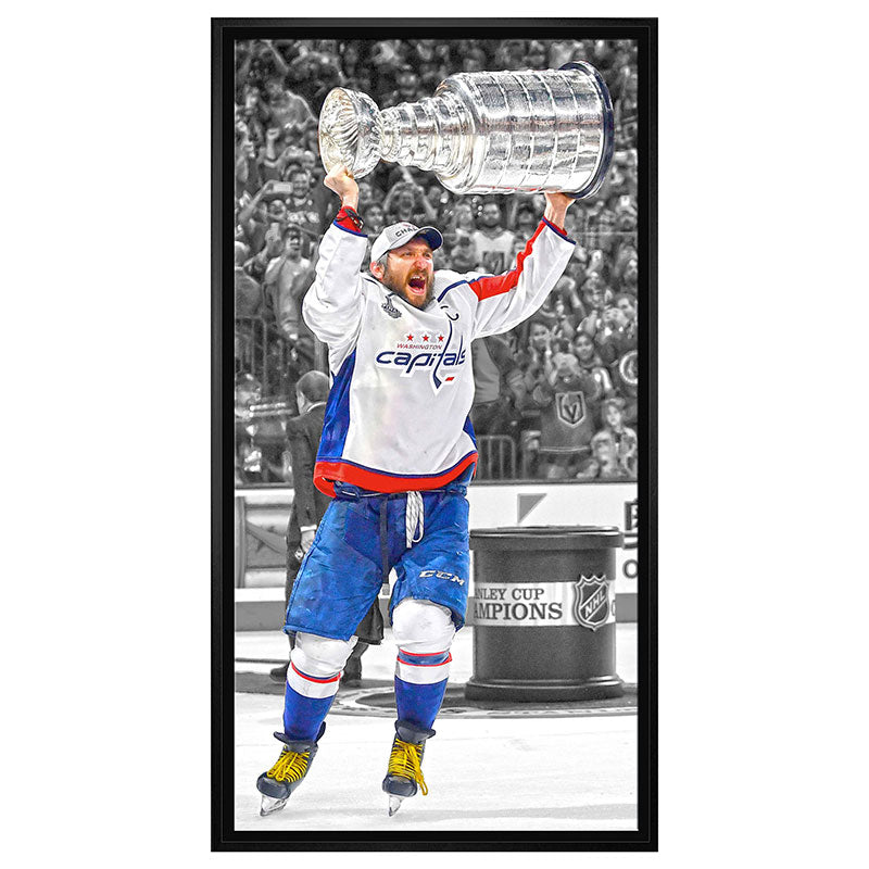 Alex Ovechkin Washington Capitals Framed 14x28 Canvas