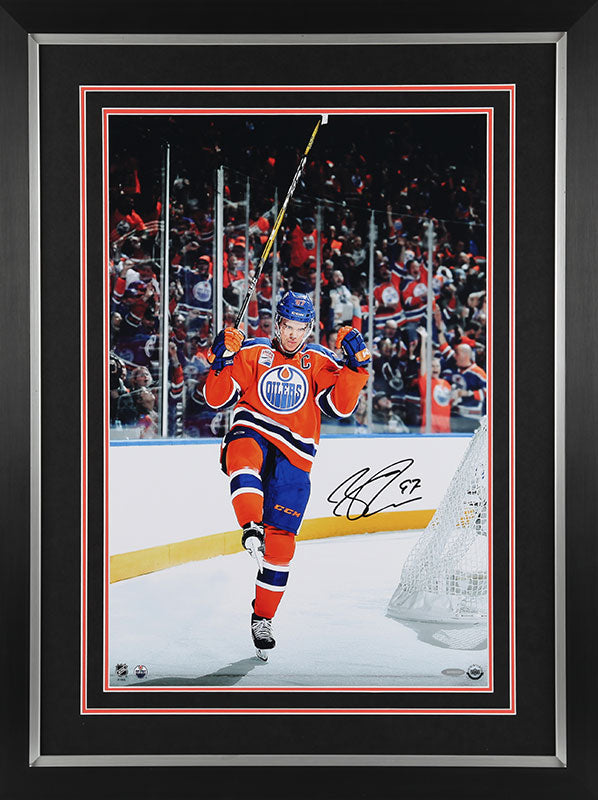 Connor McDavid Edmonton Oilers Autographed 16x24 Framed Photo