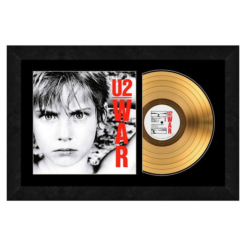 U2 - War - Gold Record Frame