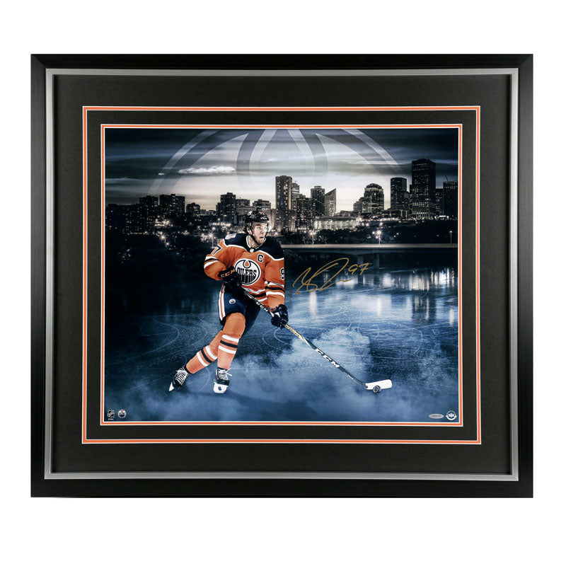 Connor McDavid Edmonton Oilers Autographed 20x24 Framed Photo