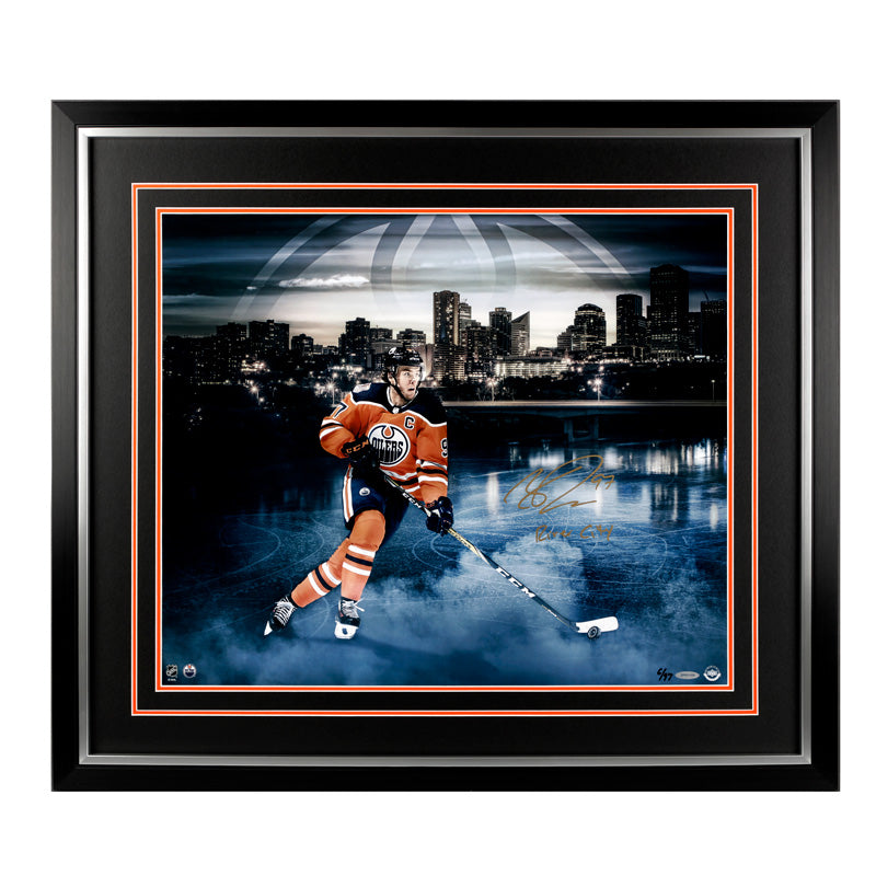 Connor McDavid Edmonton Oilers Autographed/Inscribed 20x24 Framed Photo