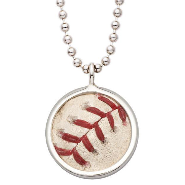 Toronto Blue Jays Game Used Baseball Pendant with Sterling Silver Ball Chain