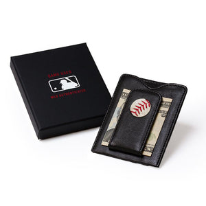San Francisco Giants Game Used Baseball Money Clip Wallet