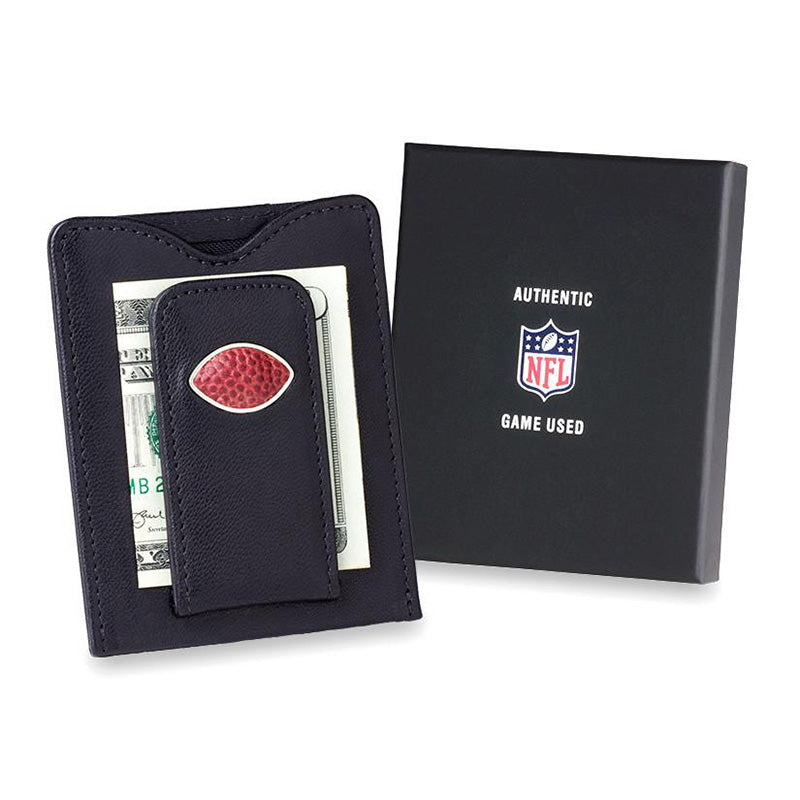 Green Bay Packers Game Used Football Money Clip Wallet