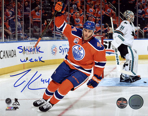 Zack Kassian Edmonton Oilers Autographed & Inscribed 8x10 Photo