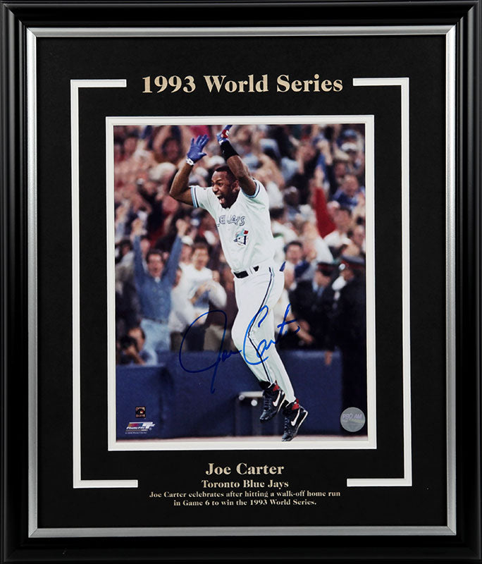Joe Carter Toronto Blue Jays World Series Autographed 8x10 Photo