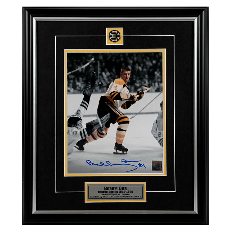 Bobby Orr Boston Bruins Autographed Framed 8x10 Photo