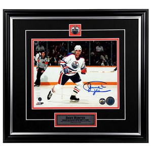 Dave Hunter Edmonton Oilers Autographed 8x10 Photo