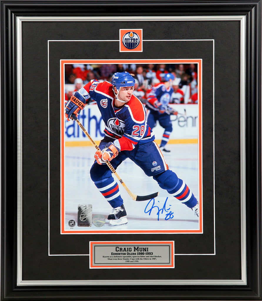 Craig Muni Edmonton Oilers Signed 8x10 Photo