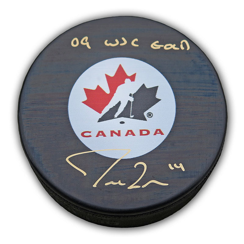 Jordan Eberle Team Canada Autographed and Inscribed Puck