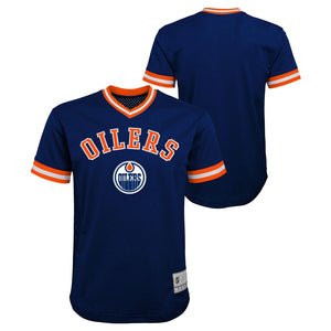 Edmonton Oilers Youth V-Neck Fashion Top
