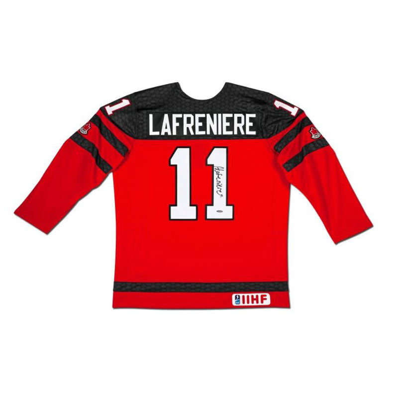 Alexis Lafrenière Team Canada Autographed Red Nike Jersey