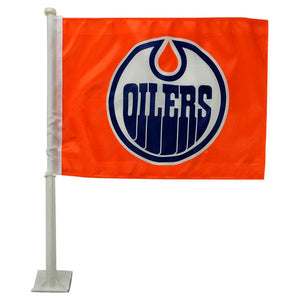 Edmonton Oilers Orange Car Flag