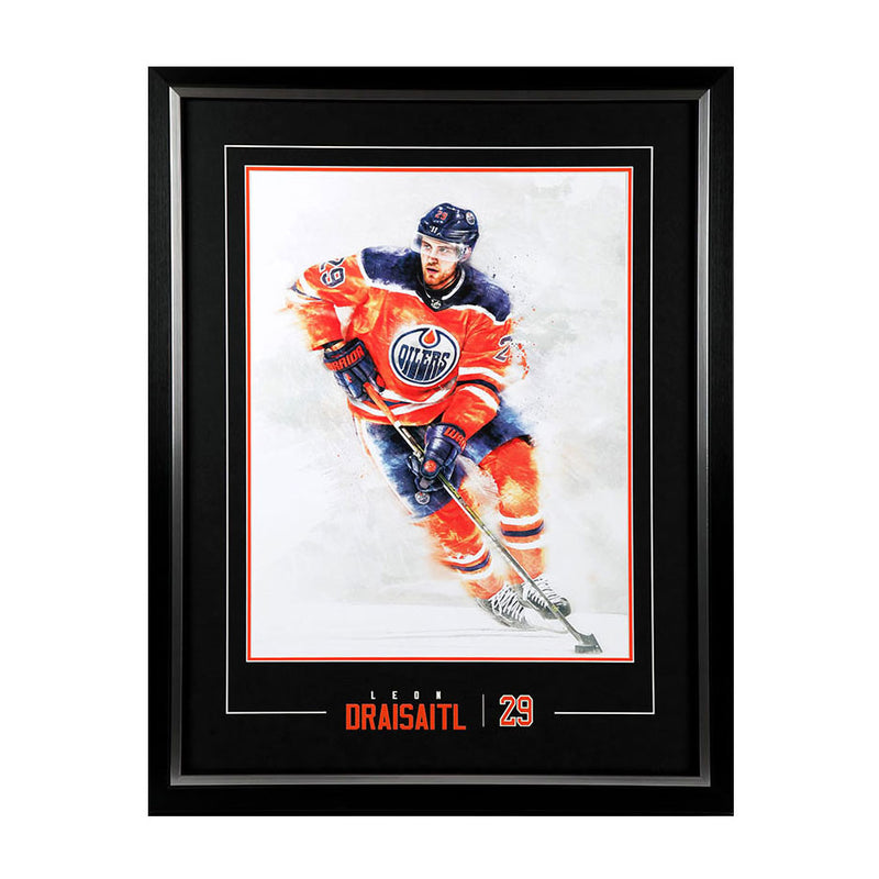 Framing Package for YOUR 17-18 Oilers Leon Draisaitl Season Ticket Holder Litho