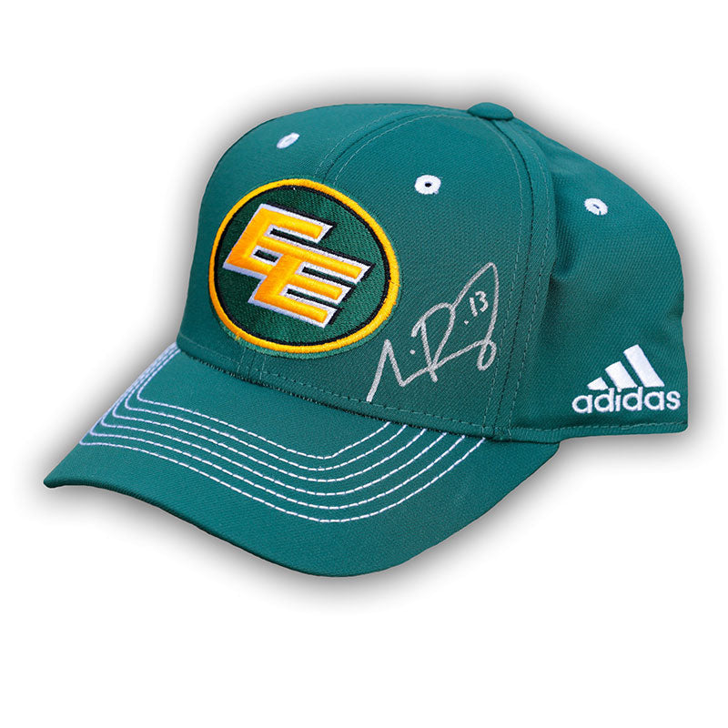 Mike Reilly Edmonton Eskimos Signed Green Adidas Hat