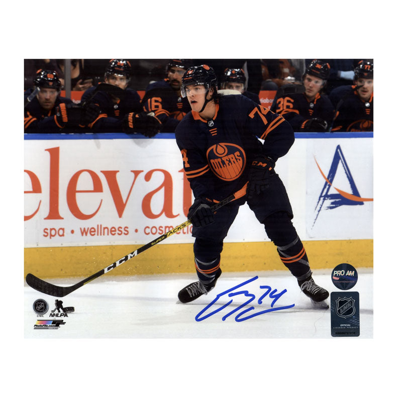 Ethan Bear Edmonton Oilers Autographed 11x14 Photo
