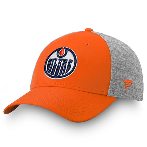 Edmonton Oilers adidas Left City Structured Flex Cap