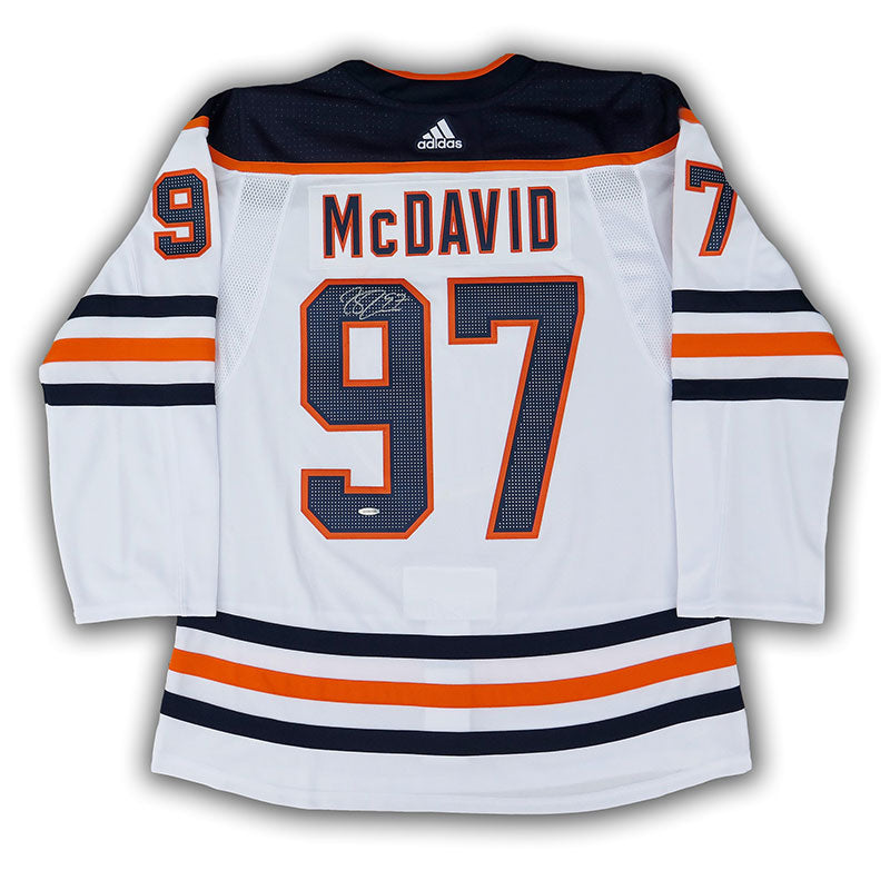 new concept 0e4f0 acb0d Connor McDavid Edmonton Oilers Autographed adidas Pro Jersey