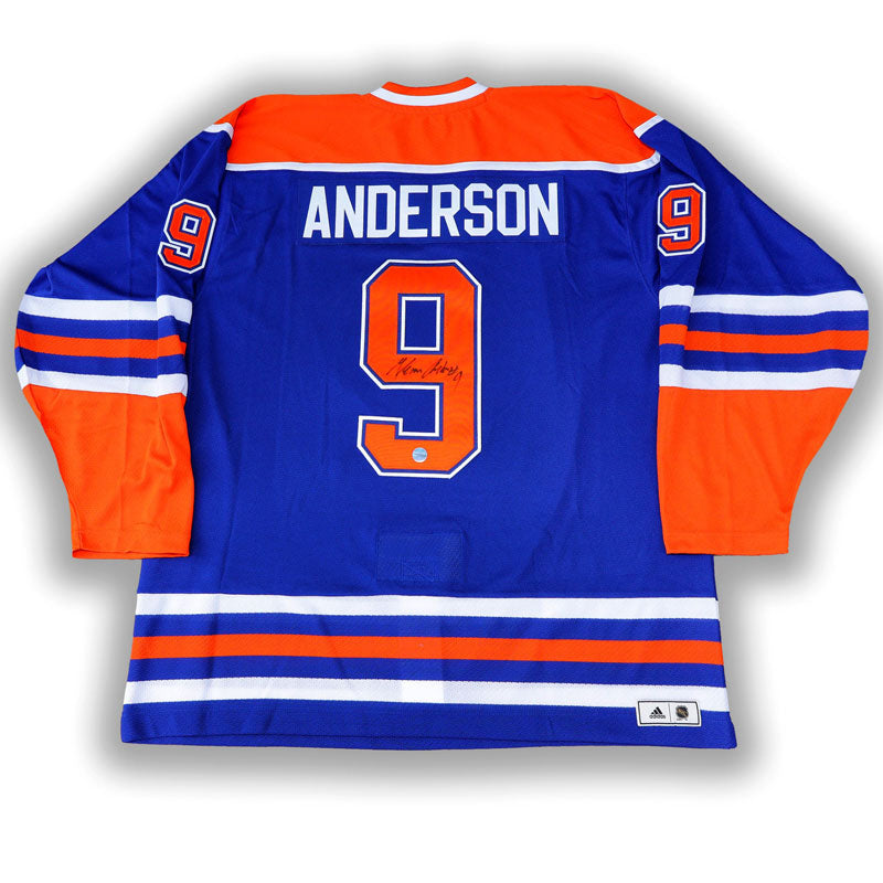 Glenn Anderson Edmonton Oilers Signed Blue adidas Vintage Pro Jersey