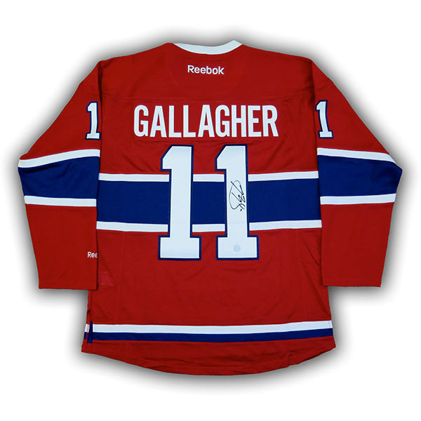 ... Brendan Gallagher Montreal Canadiens Autographed RBK Replica Jersey ... a8f7181c3