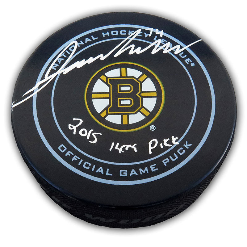 Jake DeBrusk Boston Bruins Autographed and Inscribed Official NHL Game Puck