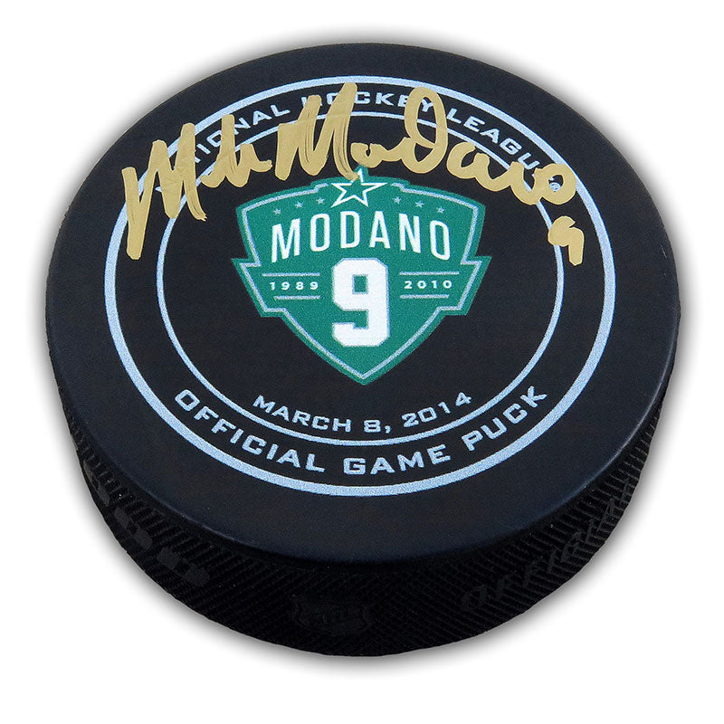 "Mike Modano ""Modano Night"" Autographed Game Puck"