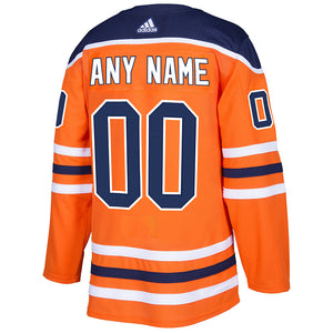 Edmonton Oilers NHL Authentic CUSTOM Pro Home Jersey w/On Ice Cresting