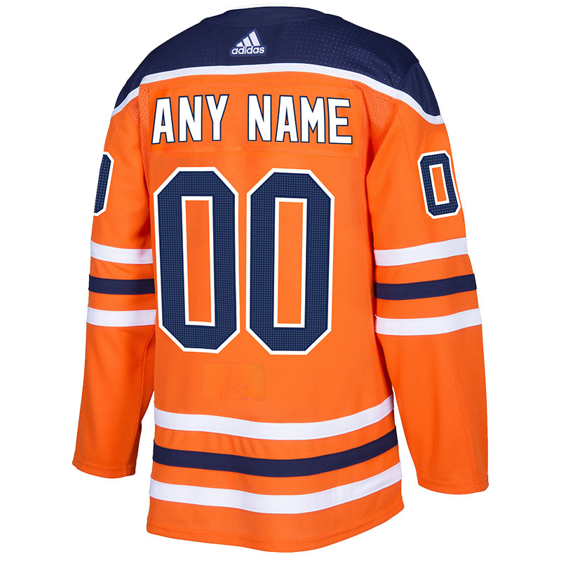 Edmonton Oilers Authentic adidas Pro Home/Orange Jersey Sewing Kit