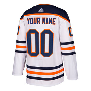 Edmonton Oilers Authentic adidas Pro Road/White Jersey Sewing Kit