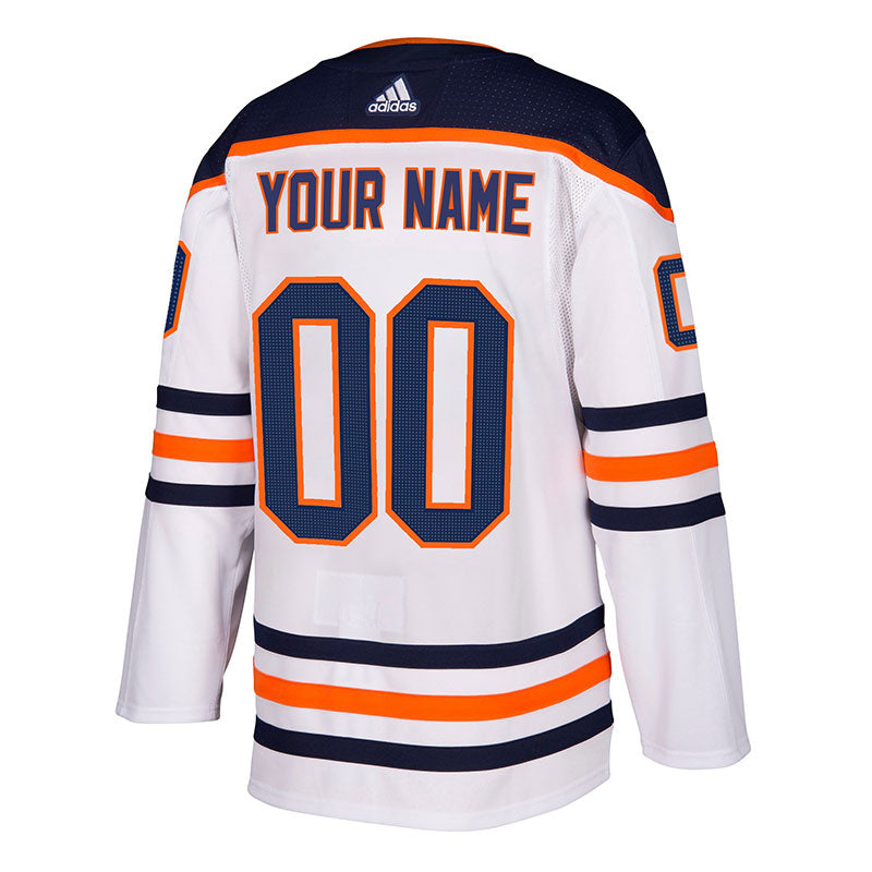 Edmonton Oilers NHL Authentic CUSTOM Pro Road Jersey w/ On Ice Cresting