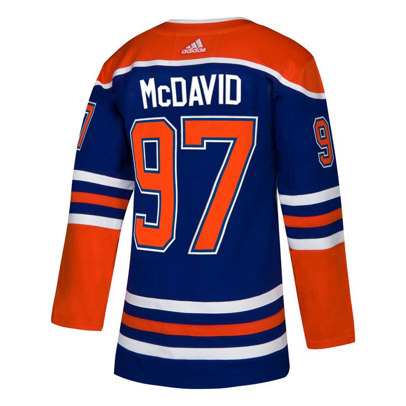 the latest f1b41 f7a29 Connor McDavid Edmonton Oilers NHL Authentic Pro Alternate Jersey with On  Ice Cresting