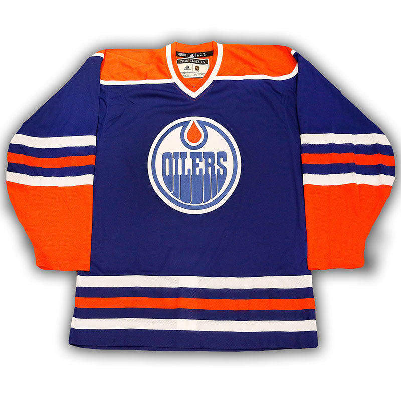 100% authentic cc095 22915 Edmonton Oilers Vintage Authentic Pro Blue Jersey