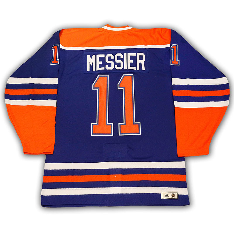 Mark Messier Edmonton Oilers Vintage Authentic Pro Blue Jersey