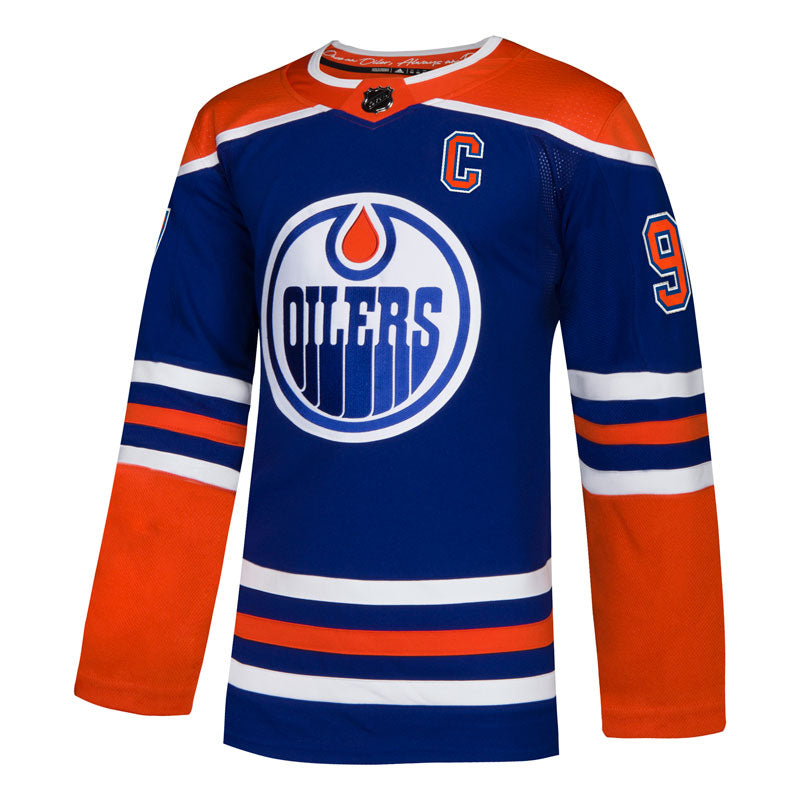 e2bfd95b5 Connor McDavid Edmonton Oilers NHL Authentic Pro Alternate Jersey with On  Ice Cresting ...