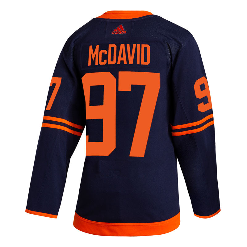 Connor McDavid Edmonton Oilers NHL adidas Authentic Pro Alternate Jersey